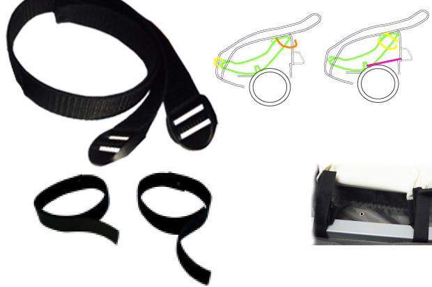 FIETSKAR: spanband&velcro